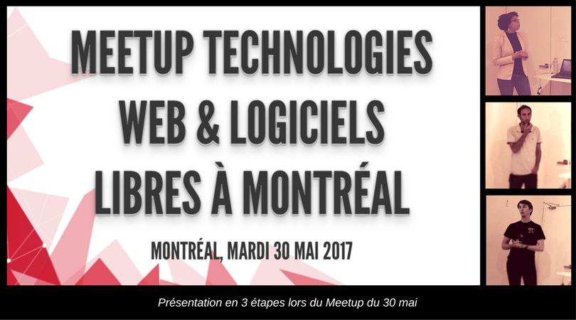 Meetup Technologies Web et Logiciels Libre #2