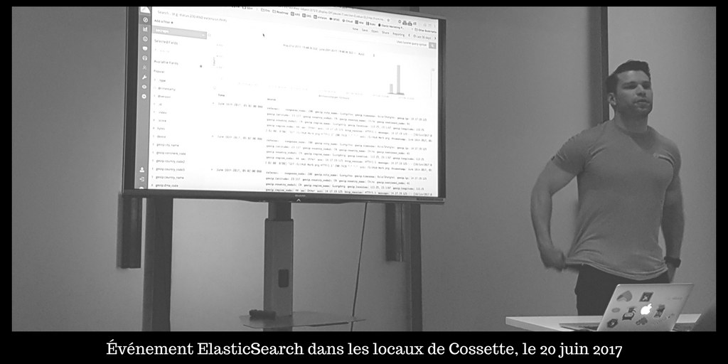 Photo du Meetup ElasticSearch de juin