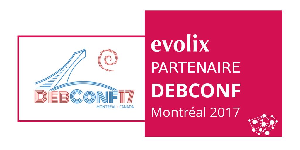 Visuel Evolix Partenaire DebConf17