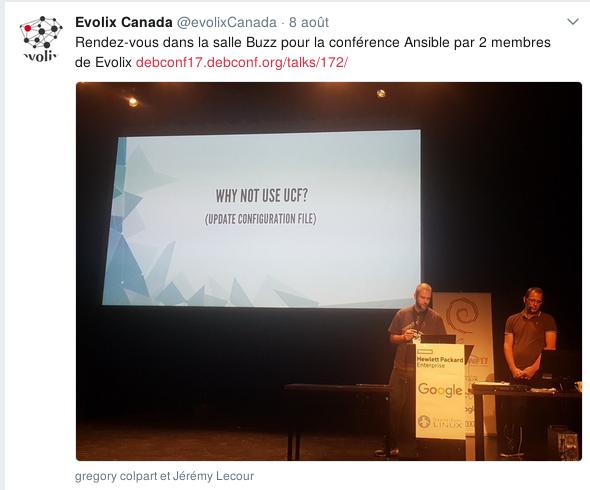 Présentation Ansible par 2 membres Evolix