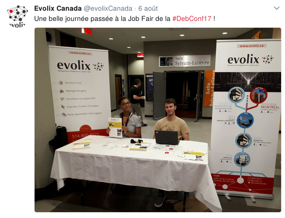 Job Fair DebConf17 Evolix
