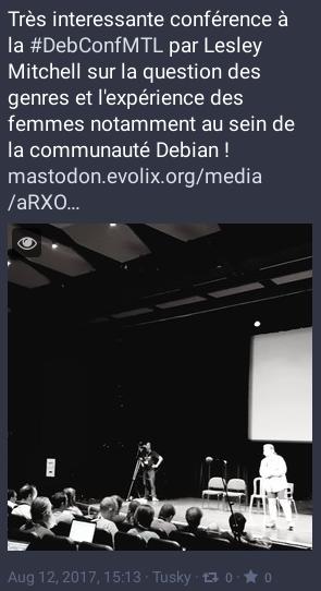 Présentation de Lesley Mitchell à la DebConf17